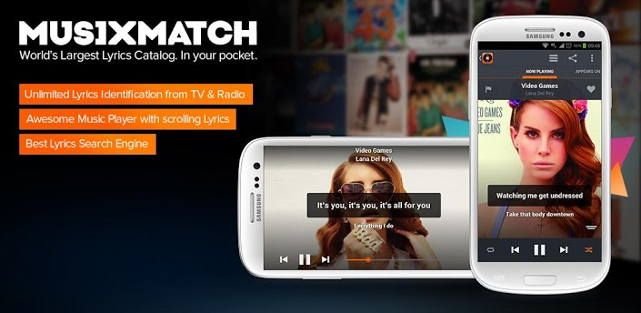 musiXmatch-android-app-gratuite lecteurs de musique